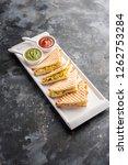paneer bhurji sandwich is a... | Shutterstock . vector #1262753284