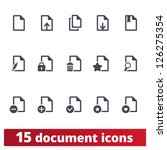 Stock vector documents icons vector set of papers and files 126275354
