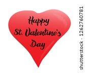 handwritten lettering. happy...   Shutterstock .eps vector #1262760781