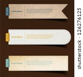set of paper  stickers  labels  ... | Shutterstock .eps vector #126276125