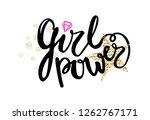 girl power colorful graffiti...   Shutterstock . vector #1262767171