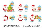 santa claus with snow maiden... | Shutterstock . vector #1262772184