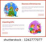 decorating christmas tree and...   Shutterstock .eps vector #1262777077
