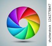 colorful shutter aperture.... | Shutterstock .eps vector #1262778847