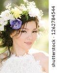 asian bride closeup   Shutterstock . vector #1262784544