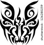 skull tribal.vector | Shutterstock .eps vector #126280259