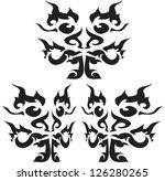 skull tribal.vector | Shutterstock .eps vector #126280265