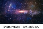 planets  stars and galaxies in... | Shutterstock . vector #1262807527