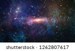 planets  stars and galaxies in... | Shutterstock . vector #1262807617