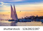Felucca At Sunset   Voyage On...