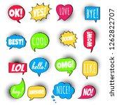 16 speech bubbles flat style...   Shutterstock .eps vector #1262822707