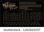 heritage calligraphic typeface... | Shutterstock .eps vector #1262824237