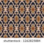 seamless diamond baroque...   Shutterstock . vector #1262825884