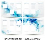 brochure backgrounds with... | Shutterstock .eps vector #126282989