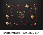 happy new year greeting card... | Shutterstock .eps vector #1262839114
