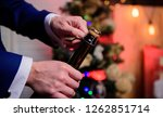 lets celebrate. open champagne... | Shutterstock . vector #1262851714