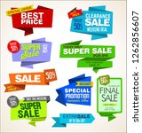 modern sale origami banners and ... | Shutterstock .eps vector #1262856607