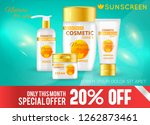 realistic sun protection... | Shutterstock .eps vector #1262873461