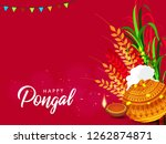 south indian festival pongal... | Shutterstock .eps vector #1262874871