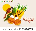 south indian festival pongal... | Shutterstock .eps vector #1262874874
