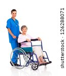 young nurse and senior patient... | Shutterstock . vector #126288071