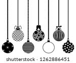 set of different hanging... | Shutterstock .eps vector #1262886451