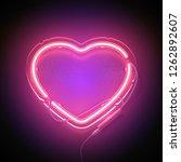 bright heart. neon sign. retro... | Shutterstock .eps vector #1262892607