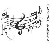 music note design on white... | Shutterstock .eps vector #1262895931