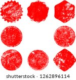 grunge post stamps collection ... | Shutterstock .eps vector #1262896114