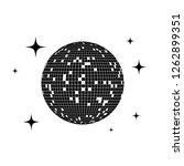 disco ball icon. vector... | Shutterstock .eps vector #1262899351