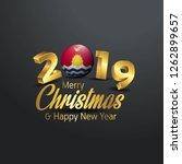 kiribati flag 2019 merry... | Shutterstock .eps vector #1262899657