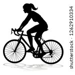a woman bicycle riding bike... | Shutterstock . vector #1262910334