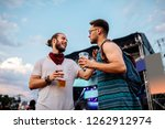 cropped shot of two young... | Shutterstock . vector #1262912974