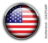 usa  american flag button | Shutterstock .eps vector #126291689