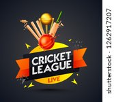 cricket league template or... | Shutterstock .eps vector #1262917207