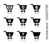 shopping cart vector icons set | Shutterstock .eps vector #126291785