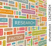 research. word collage. vector... | Shutterstock .eps vector #126291824