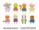 big set of cute funny animals... | Shutterstock .eps vector #1262922604