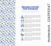 rehabilitation for disabled...   Shutterstock .eps vector #1262933167