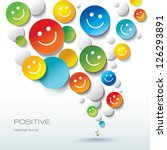 colorful positive background... | Shutterstock . vector #126293891