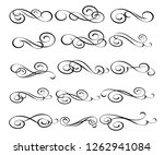 elegant elements of design... | Shutterstock .eps vector #1262941084
