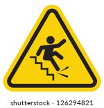 warning falling off the stairs... | Shutterstock .eps vector #126294821