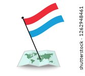 map with flag of luxembourg... | Shutterstock .eps vector #1262948461