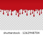 red dripping slime seamless... | Shutterstock .eps vector #1262948704