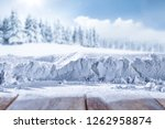 winter background and snow... | Shutterstock . vector #1262958874