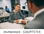job interview  businesswoman...   Shutterstock . vector #1262971714