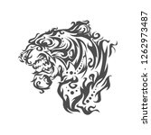the head of a tiger in an...   Shutterstock .eps vector #1262973487