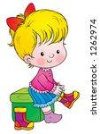 girl | Shutterstock . vector #1262974