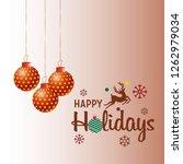 merry christmas 2019 background.... | Shutterstock .eps vector #1262979034