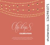 merry christmas 2019 background.... | Shutterstock .eps vector #1262981071